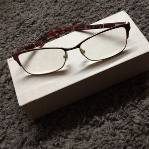 Kate Spade Red and Gold Eyeglasses